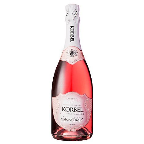 Korbel Champagne California Sweet Rose 24 Proof - 750 Ml