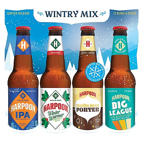 Harpoon Beer Mix Bottles - 12-12 Fl. Oz.