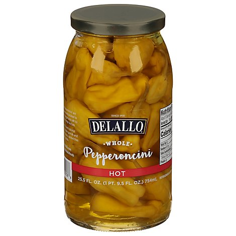 DeLallo Pepperoncini Hot - 25.5 Oz