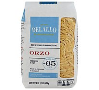 DeLallo Pasta No. 65 Orzo Bag - 16 Oz