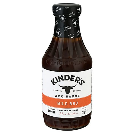 Kinders California Barbecue Sauce BBQ Mild Bottle - 20.5 Oz