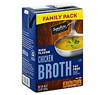 Signature Kitchens Broth Chicken Value Size - 48 Oz