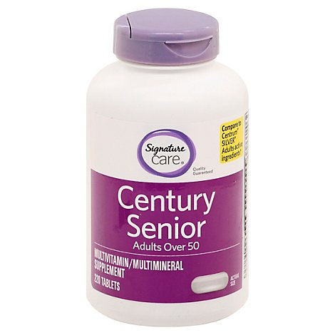 Signature Care CENTURY Mature Adults Over 50 Dietary Supplement Tablet - 220 Count
