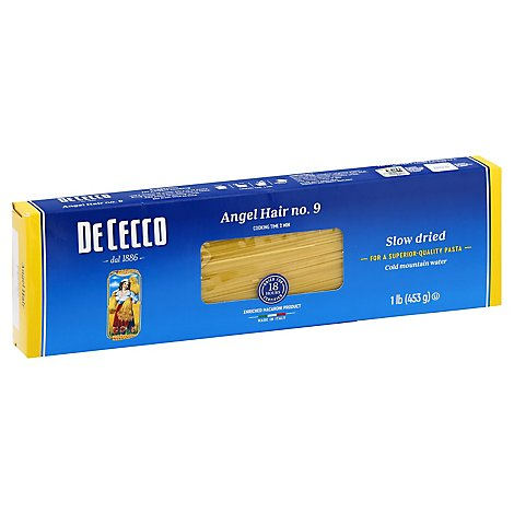 De Cecco Pasta No. 9 Angel Hair Box - 1 Lb