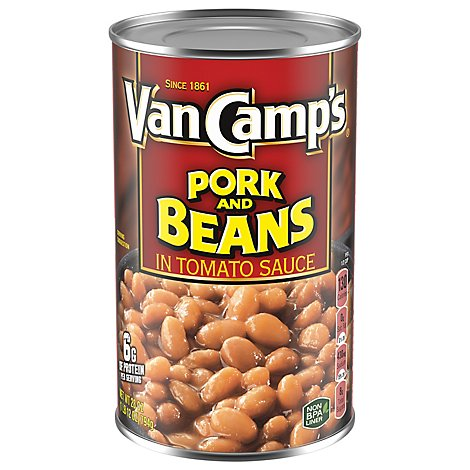 Van Camps Pork & Beans In Tomato Sauce - 28 Oz