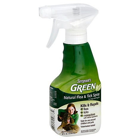Sergeants Green Flea & Tick Spray For Dogs & Puppies Bottle - 8 Fl. Oz.