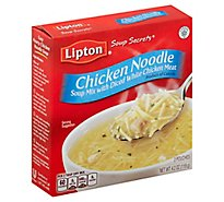Lipton Soup Secrets Soup Mix With Real Chicken Broth Chicken Noodle 2 Count - 4.2 Oz