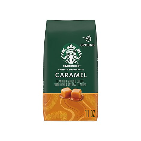 Starbucks Coffee Ground Flavored Caramel Bag - 11 Oz