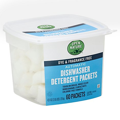 Open Nature Dishwashing Detergent Automatic Dye & Fragrance Free Tub - 60 Count