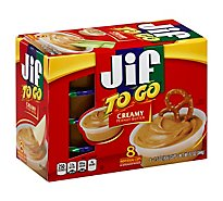 Jif To Go Peanut Butter Creamy - 8-1.5 Oz