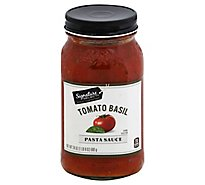 Signature SELECT Pasta Sauce Tomato Basil Jar - 24 Oz