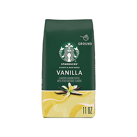Starbucks Coffee Ground Flavored Vanilla Bag - 11 Oz