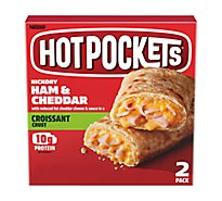 Hot Pockets Sandwiches Croissant Crust Hickory Ham & Cheddar 2 Count - 9 Oz