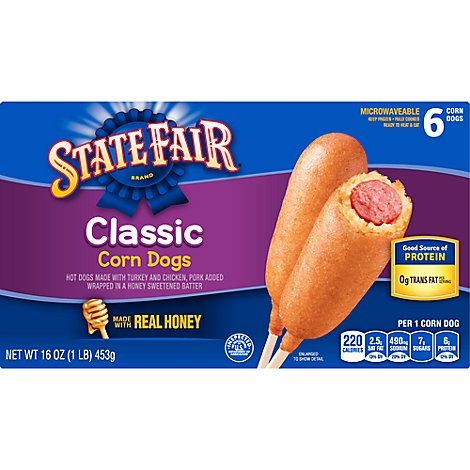 State Fair Corn Dogs Classic 6 Count - 16 Oz