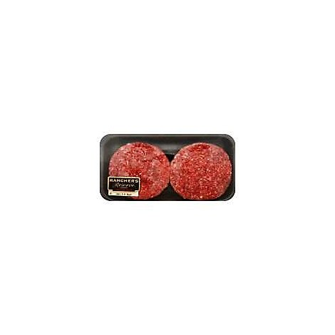 Meat Counter Ground Beef Hamburger Patties 80% Lean 20% Fat Value Pack - 2.50 Lb.
