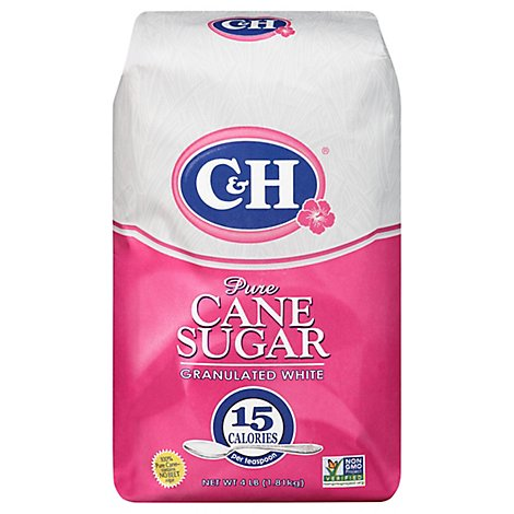 C&H Sugar Granulated White Pure Cane - 4 Lb