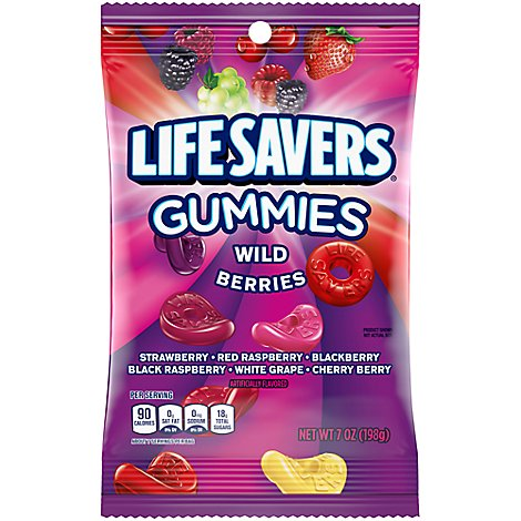 Life Savers Gummy Candy Wild Berries Bag - 7 Oz