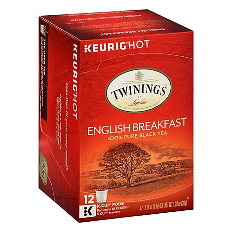 Twinings of London Black Tea K-Cup Pods English Breakfast - 12-0.11 Oz