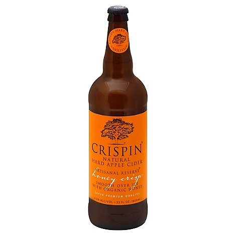 Crispin Cider Hard Gluten Free Honey Crisp 6.5% ABV In Bottle - 22 Fl. Oz.