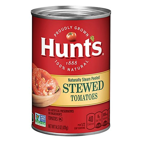 Hunts Tomatoes Stewed - 14.5 Oz