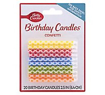Betty Crocker Candles Confetti - 20 Count