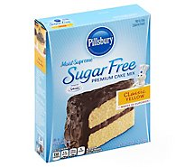 Pillsbury Moist Supreme Cake Mix Premium Yellow Sugar Free - 16 Oz
