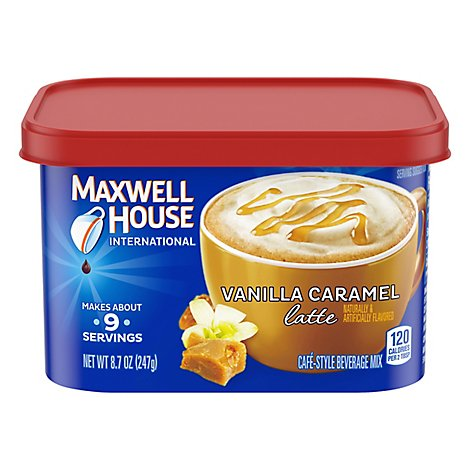 Maxwell House International Beverage Mix Cafe-Style Vanila Caramel Latte - 8.7 Oz