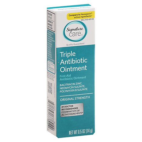Signature Care Ointment Triple Antibiotic First Aid Original Strength - 0.5 Oz