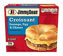 Jimmy Dean Sandwiches Croissant Sausage Egg & Cheese 8 Count - 36 Oz