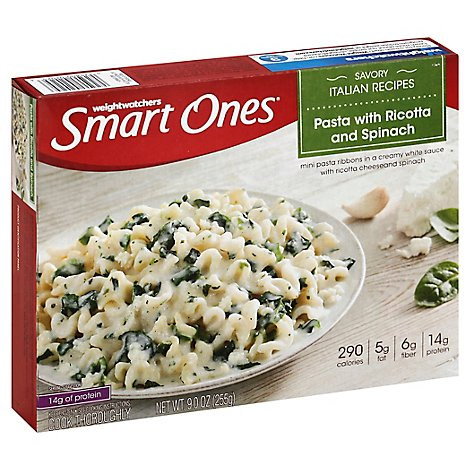 Smart Ones Savory Italian Recipes Meal Pasta With Ricotta and Spinach - 9 Oz