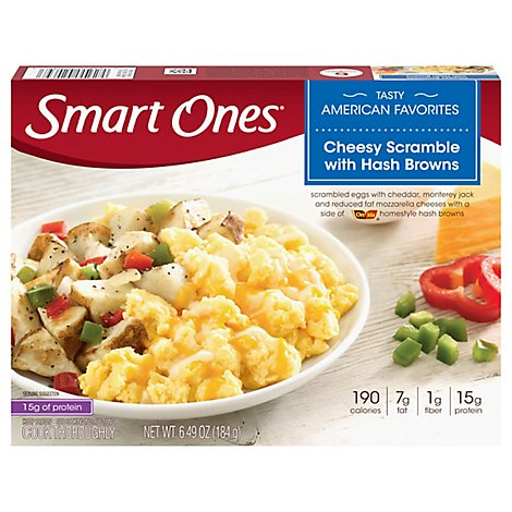 Smart Ones Tasty American Favorites Meal Cheesy Scramble With Hash Browns - 6.49 Oz