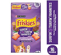 Friskies Cat Food Dry Surfin & Turfin Favorites - 16 Lb