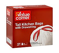 Value Corner Kitchen Bags Drawstring Tall 13 Gallon - 125 Count