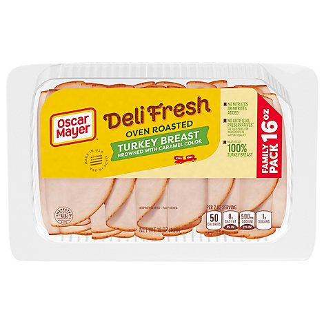 Oscar Mayer Deli Fresh Oven Roasted Turkey Breast Family Size - 16 Oz.