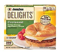 Jimmy Dean Delights Turkey Sausage Egg White & Cheese Croissant Sandwiches 4 Count