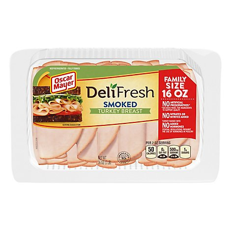 Oscar Mayer Deli Fresh Turkey Breast Smoked Family Size - 16 Oz