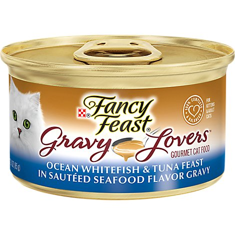 Fancy Feast Cat Food Wet Gravy Lovers Ocean Whitefish & Tuna In Sauteed Seafood Gravy - 3 Oz