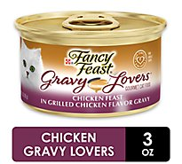Fancy Feast Gravy Lovers Cat Food Gourmet Chicken Feast Grilled Chicken Flavor Gravy Can - 3 Oz