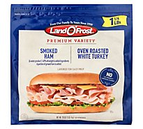 Land O Frost Sub Sandwich Kit Smoked Ham & Oven Roasted Turkey - 24 Oz