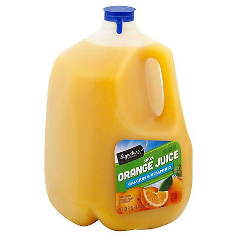 Signature SELECT/Farms Juice 100% Orange No Pulp Chilled - 128 Fl. Oz.