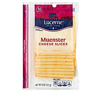 Lucerne Cheese Slices Muenster - 8 Oz