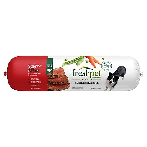 Freshpet Select Dog Food Chunky Beef Recipe Wrapper - 6 Lb