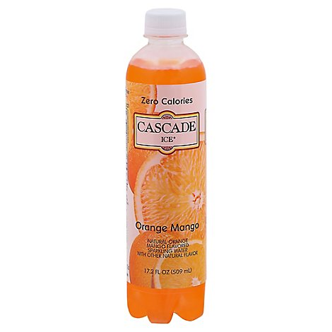Cascade Ice Sparkling Water Orange Mango - 17.2 Fl. Oz.