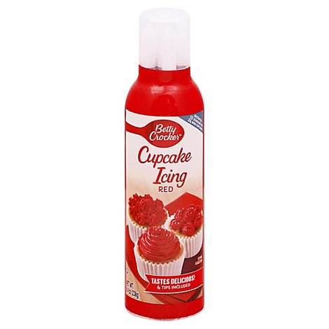 Betty Crocker Decorating Icing Cupcake Rose Red - 8.4 Oz