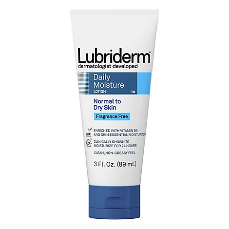 Lubiderm Lotion Daily Moisture Normal To Dry Skin Fragrance Free - 3 Fl. Oz.