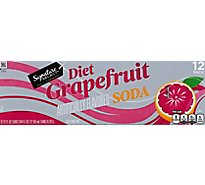 Signature SELECT/Refreshe Soda Grapefruit Diet Cans - 12-12 Fl. Oz.