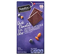 Signature SELECT Dark Chocolate 72% Cacao With Almonds & Blueberries - 3.5 Oz