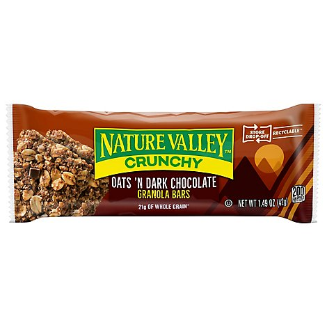 Nature Valley Granola Bars Crunchy Oats n Dark Chocolate - 1.49 Oz
