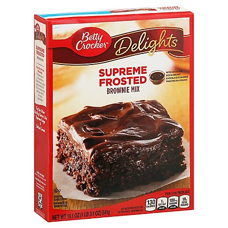 Betty Crocker Brownie Mix Supreme Frosted - 19.1 Oz