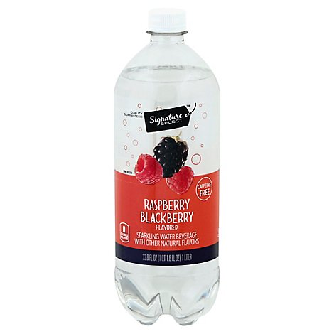 Signature SELECT Sparkling Water Raspberry Blackberry - 33.8 Fl. Oz.